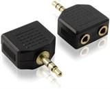 (79608) Переходник аудио джек3.5mm (M) - 2 x аудио джек3.5mm (F)