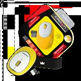 (1003373) Силиконовая беспроводная мышь CROWN CMM-931W (yellow)