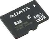 (84903) Карта памяти 8Gb microSDHC ADATA (AUSDH8GCL4-R), Class 4, без адаптеров, RTL