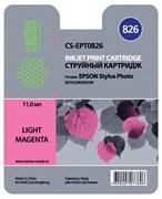 (3330243) Картридж струйный CACTUS CS-EPT0826 светло-пурпурный для принтеров Epson Stylus Photo R270/ 290/ RX590, 460 стр., 11 мл.